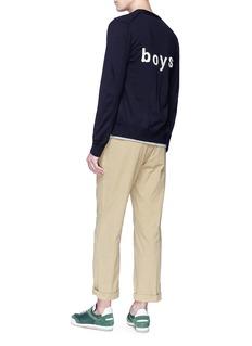 Comme Des Garçons Shirt 'Boys' embroidered wool cardigan