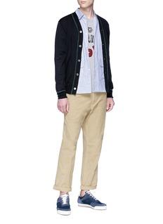 Comme Des Garçons Shirt Cargo pocket stripe shirt
