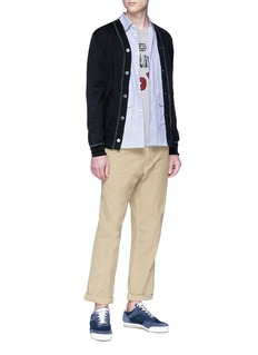 Comme Des Garçons Shirt Contrast stitch wool cardigan