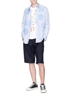 Comme Des Garçons Shirt Pleated wool twill shorts