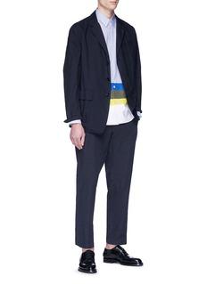 Comme Des Garçons Homme Colourblock panel stripe shirt