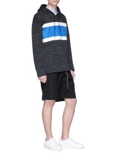 Comme Des Garçons Homme Colourblock panel knit hoodie