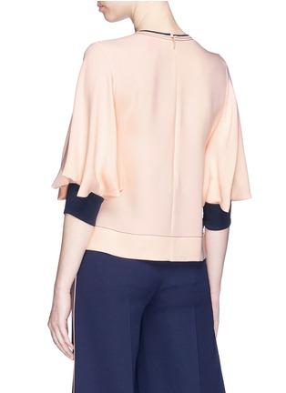 Back View - Click To Enlarge - Roksanda - Layered bell sleeve silk georgette top