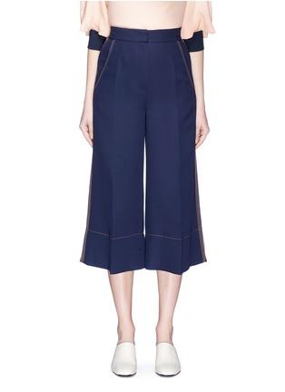 Main View - Click To Enlarge - Roksanda - 'Hasani' stripe outseam crepe culottes
