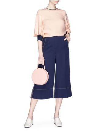 Figure View - Click To Enlarge - Roksanda - 'Hasani' stripe outseam crepe culottes