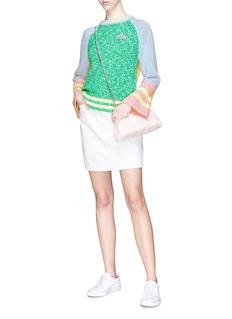 Mira Mikati Bus appliqué split back colourblock sweater