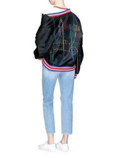 Mira Mikati Car embroidered bomber jacket