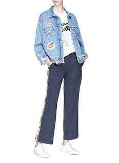 Mira Mikati 'Venice Beach' graphic patch denim jacket