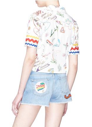 Back View - Click To Enlarge - Mira Mikati - Knot front graffiti print shirt