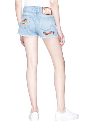 Back View - Click To Enlarge - Mira Mikati - 'Venice Beach' graphic appliqué denim shorts