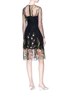 Jonathan Liang Floral embroidered organdy dress
