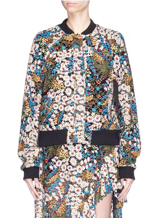 Main View - Click To Enlarge - Jonathan Liang - Reversible floral embroidered bomber jacket