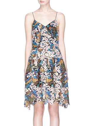 Main View - Click To Enlarge - Jonathan Liang - Floral embroidered dress