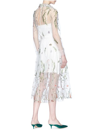 Figure View - Click To Enlarge - Jonathan Liang - Floral embroidered mesh dress