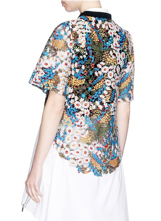Back View - Click To Enlarge - Jonathan Liang - Floral embroidered high-low top