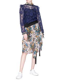Jonathan Liang 花卉刺绣镂空蕾丝上衣