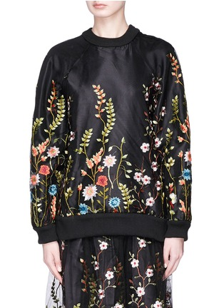 Main View - Click To Enlarge - Jonathan Liang - Floral embroidered top