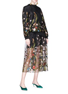Jonathan Liang Floral embroidered top