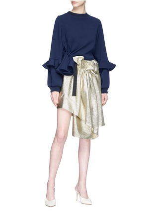 Figure View - Click To Enlarge - Jonathan Liang - Asymmetric ruffle cady top