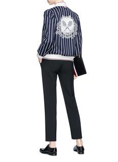 Thom Browne Tennis racket mesh jacquard stripe bomber jacket