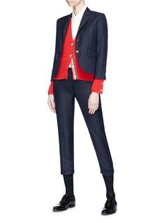 Thom Browne Low waist cropped wool twill skinny pants