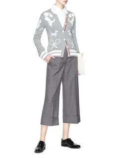Thom Browne Gingham check suiting culottes