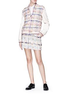 Thom Browne Madras pouf tweed mini skirt