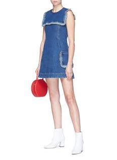 Alexa Chung Sailor bib sleeveless denim dress
