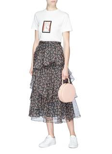 Alexa Chung Floral print tiered chiffon skirt