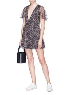 Alexa Chung Floral print chiffon wrap dress
