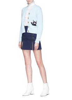 Alexa Chung Lace-up split hem skirt