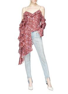 Magda Butrym 'Pireus' asymmetric ruffle off-shoulder blouse