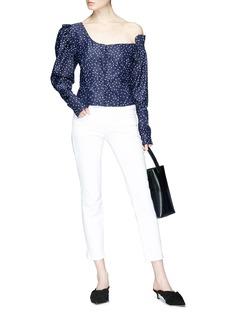 Magda Butrym 'Vannes' polka dot print one-shoulder blouse