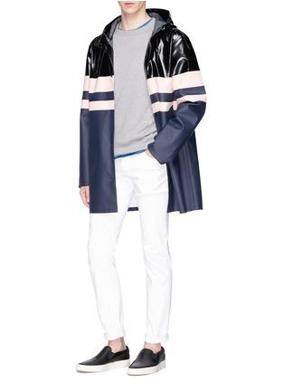 - Stutterheim - Stripe panelled unisex raincoat