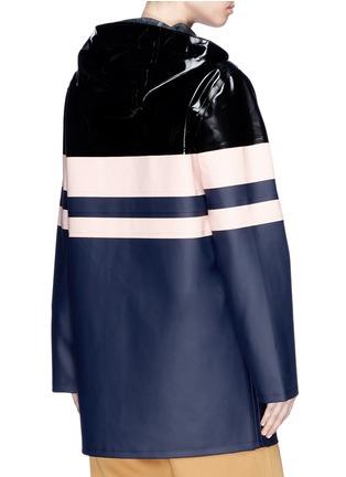 Back View - Click To Enlarge - Stutterheim - Stripe panelled unisex raincoat