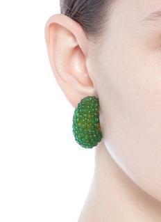 Kenneth Jay Lane Embellished hoop clip earrings