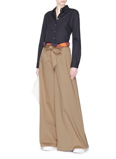 Barena 'Kira' belted twill culottes