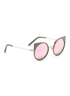 Matthew Williamson Colourblock acetate rim metal cat eye sunglasses