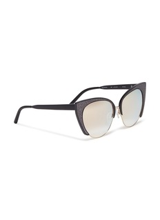 Matthew Williamson Glitter metal mirror cat eye sunglasses