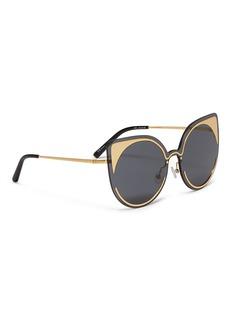 Matthew Williamson Rimless cat eye sunglasses