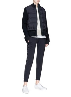 James Perse Terry fleece panel down puffer jacket