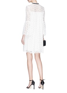 Temperley London 'Eclipse' pussybow corded lace mini dress