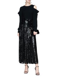 Temperley London 'Filigree' sequinned maxi skirt