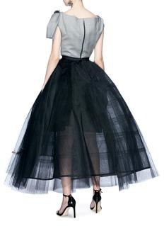 Oscar de la Renta Logo embroidered flared tulle petticoat skirt