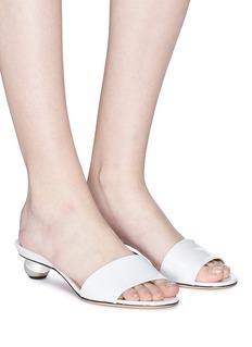 Alchimia di Ballin 'Anaxa' orb heel patent leather slide sandals