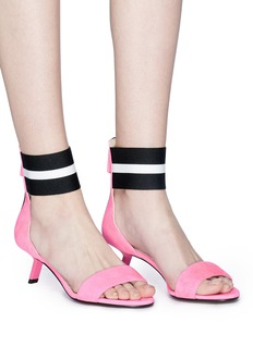 Alchimia di Ballin 'Alya' stripe ankle band suede sandals