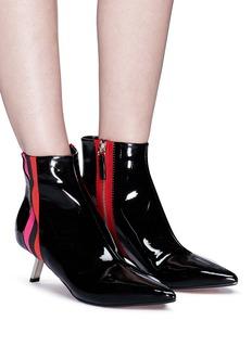 Alchimia di Ballin 'Libra' sports stripe patent leather ankle boots