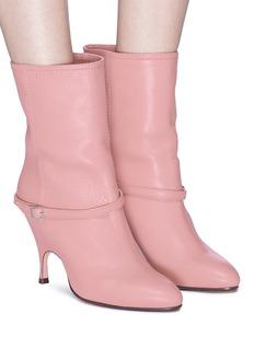 Alchimia di Ballin 'Kari' belted leather mid calf boots