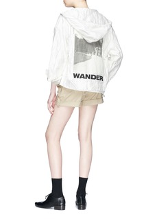 Song for the Mute 'Wander Park' photographic print hooded jacket