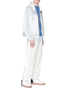meanswhile Snap button outseam paperbag waist twill pants